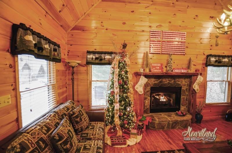 Wears Valley Chalet décoré pour Noël