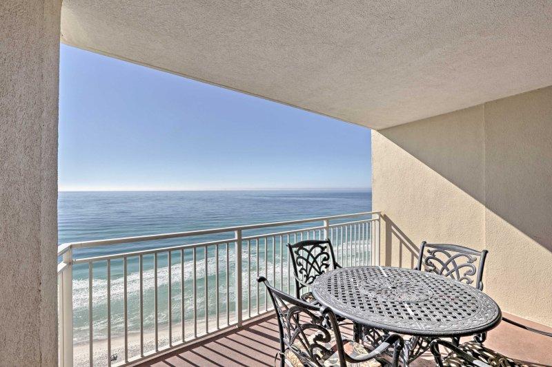 Your next coastal retreat begins at this Panama City Beach vacation rental.