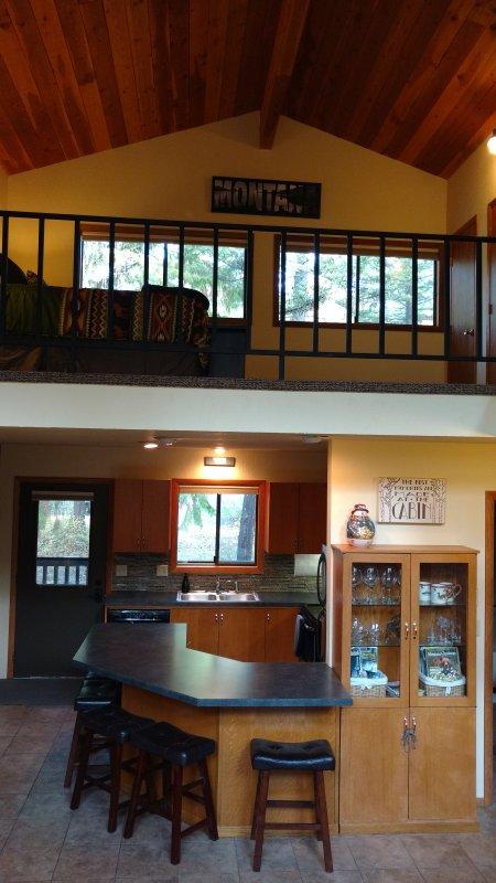 Huge open loft above (3rd bedroom)