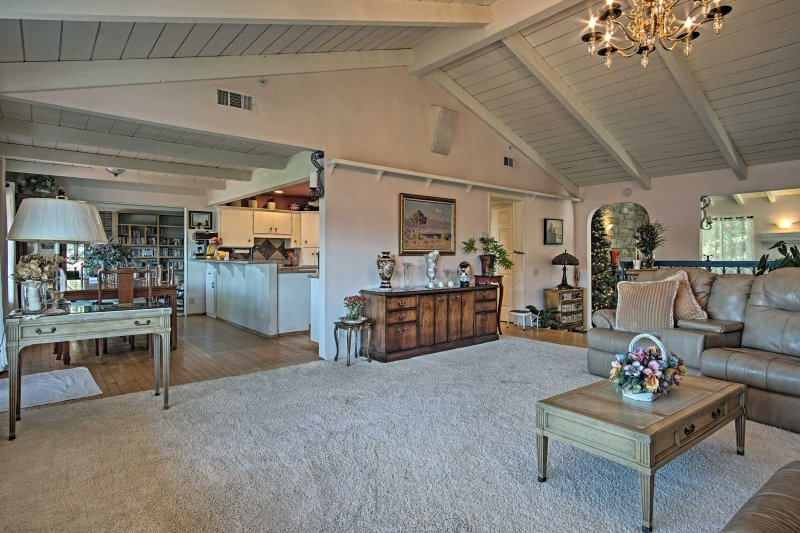 Just off the spacious living room is the kitchen and dining space.