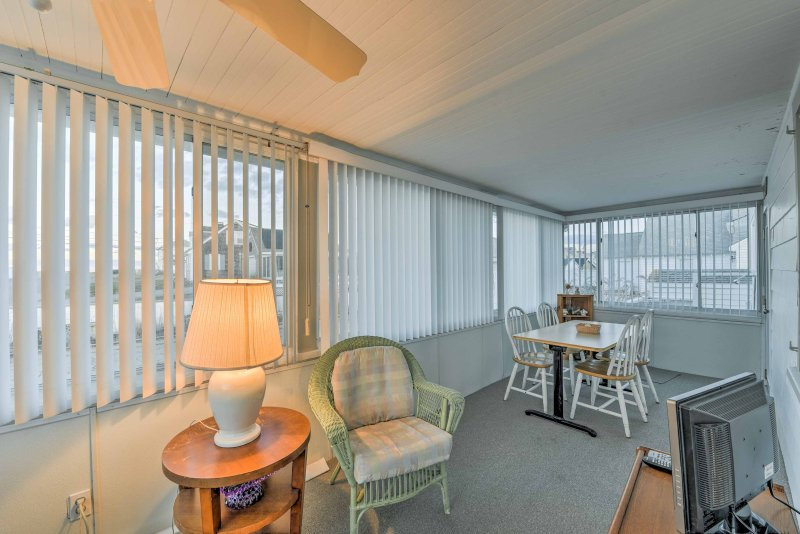 Watch the sunrise over the Atlantic Ocean from the comfort of the 3-season porch.
