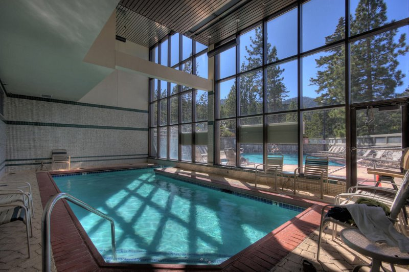 Indoor pool in Ridge Tahoe, nearby sister resort for your use