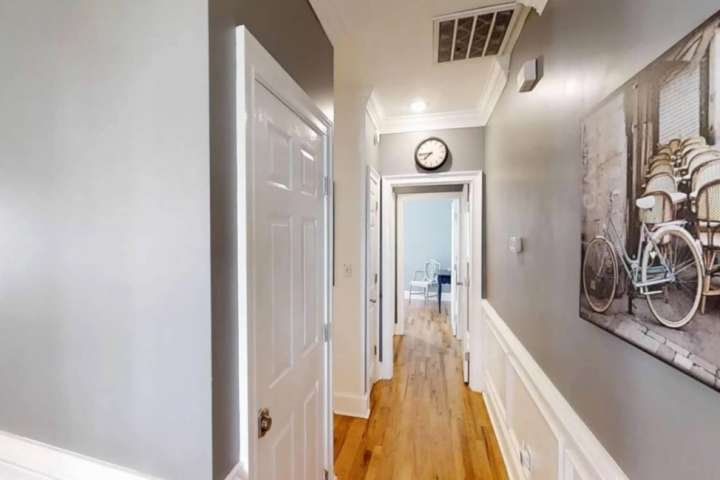 Unit features beautiful hardwood floors
