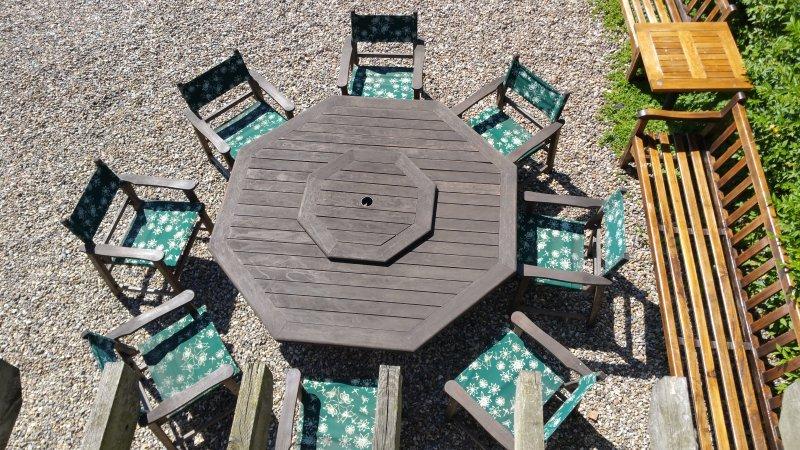 Sitzplätze im Freien