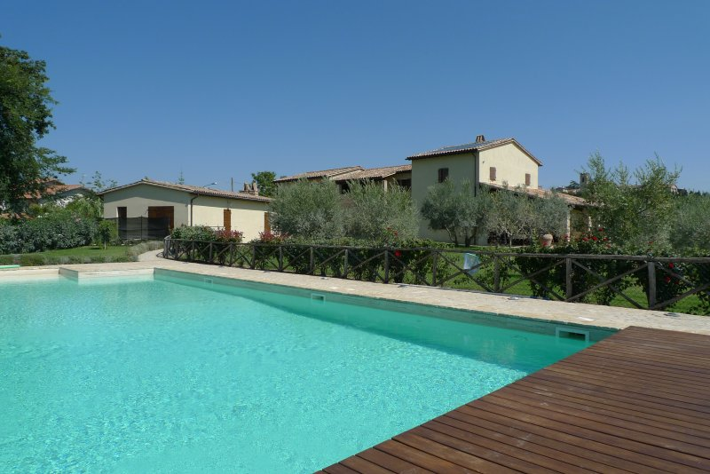 The villa and its annex - view from the swimming pool
