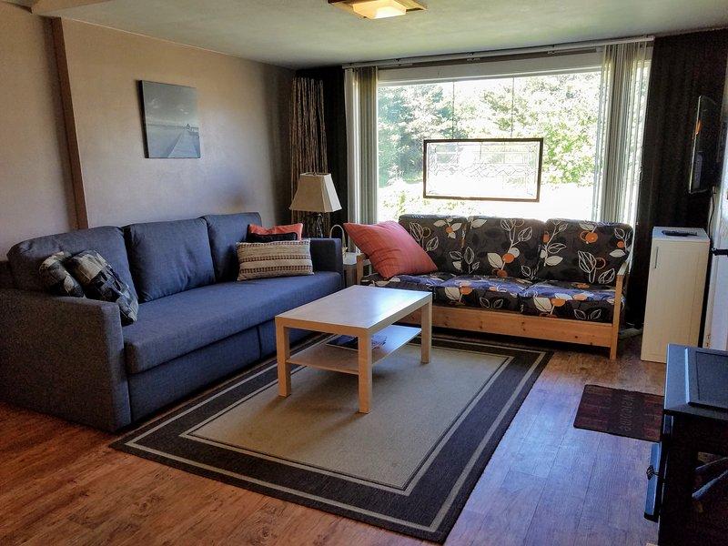 Sala de estar w retirar futon