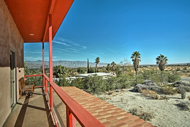 Enjoy mountain views at this 3-bed, 2-bath Borrego Springs vacation rental home