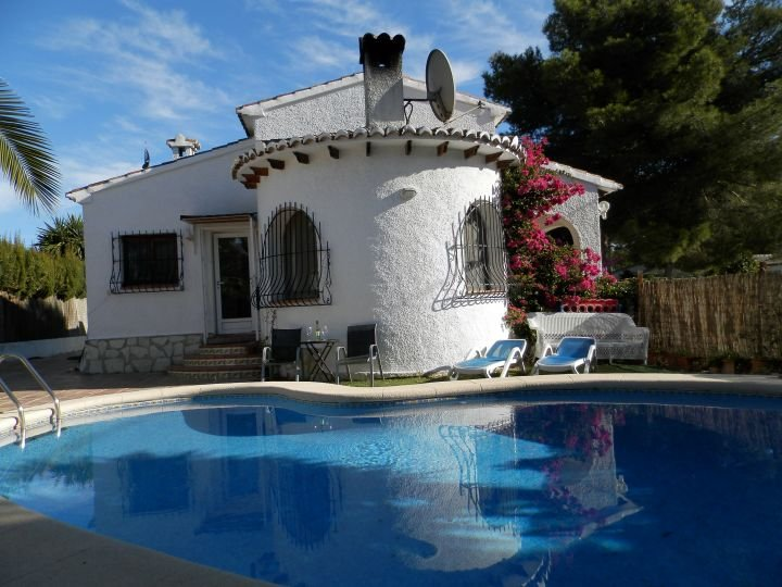 Just step out of the villa and enjoy the pool and south facing terrace