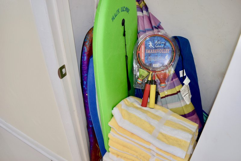 The condo is stocked with everything you need for the beach.