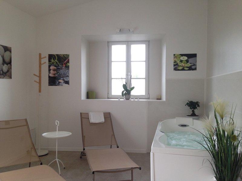 2 avis et 32 photos pour laon cit m di vale studio 39 les bleuets 39 avec jardin et spa privatif. Black Bedroom Furniture Sets. Home Design Ideas