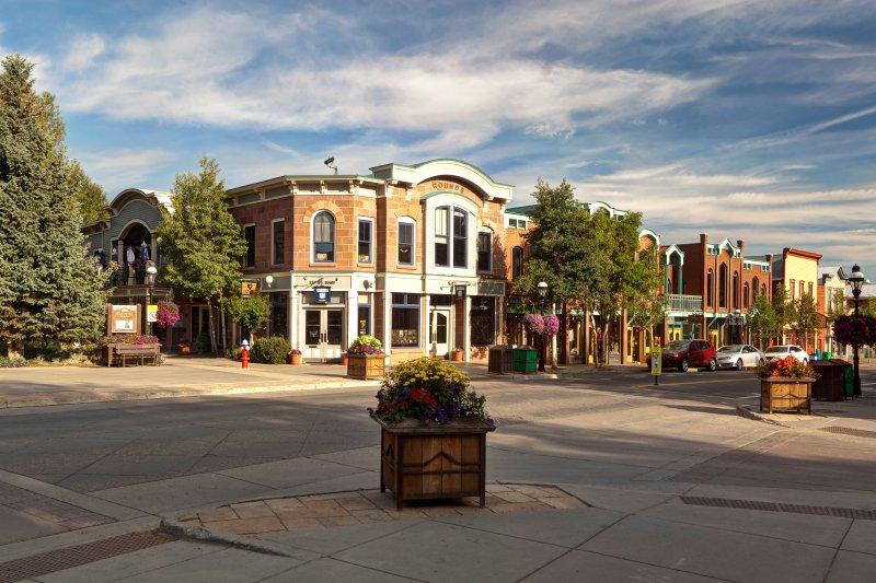 Historische Innenstadt von Breckenridge, nur einen kurzen Spaziergang vom High Street Chalet entfernt