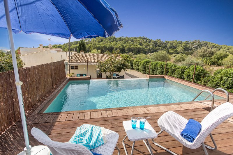 Fun Villa Rafaler with Private Pool and Waterfall Chalet in Puerto Pollensa