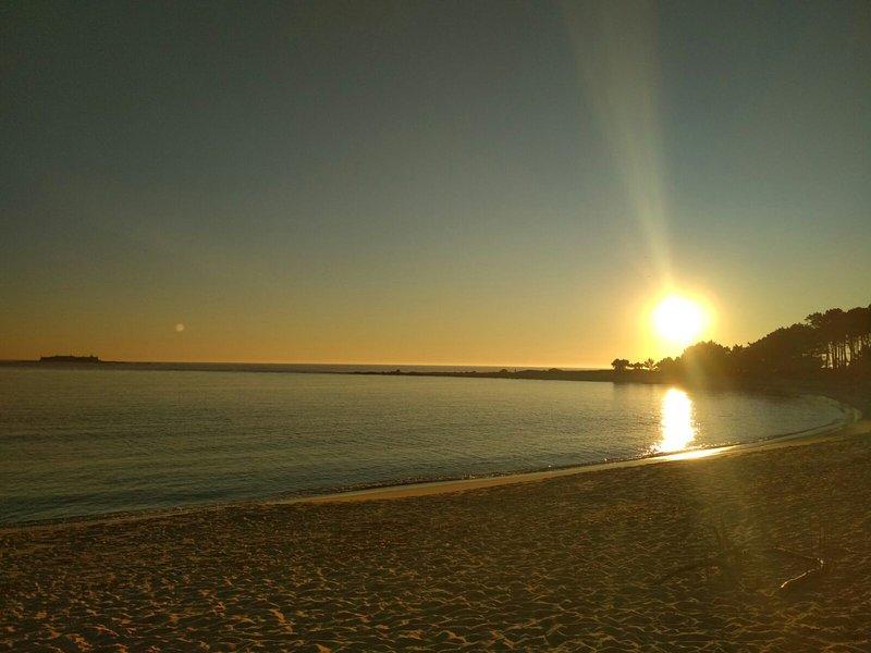 Atardecder en la playa