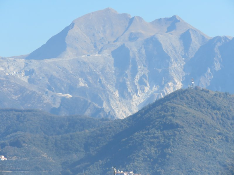 The Apuan Alps with Mount Sagro