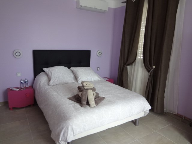 bedroom with veranda