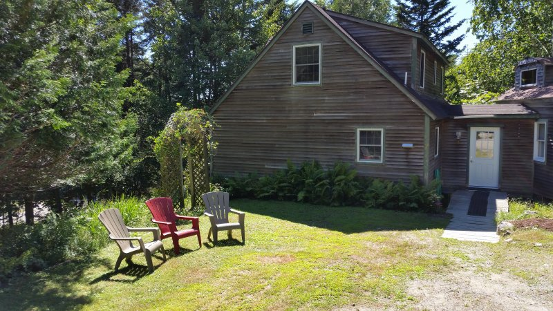 Evergreen Hill has a quiet yard and decks for relaxing