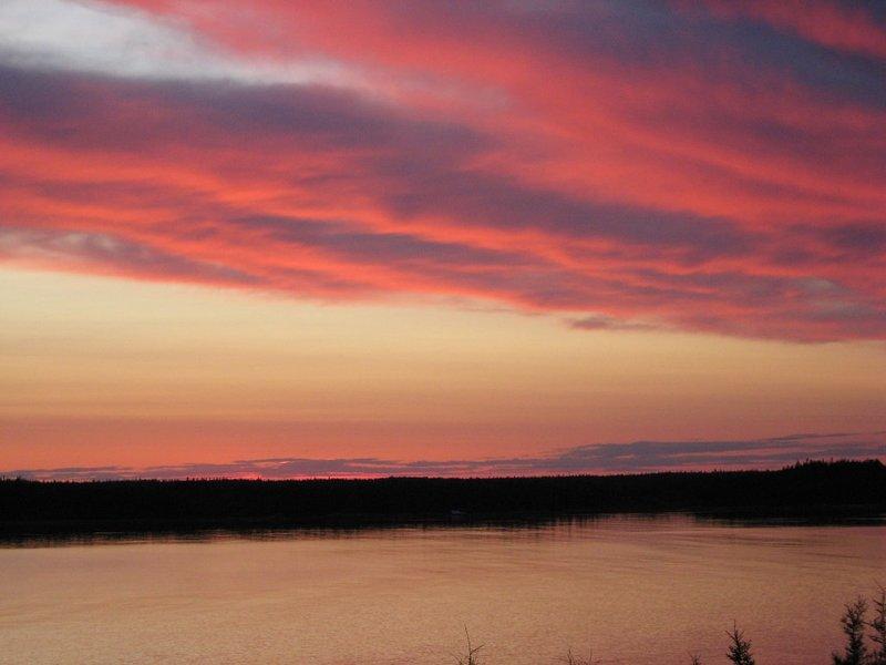 vista de la puesta en Rockland Cottage