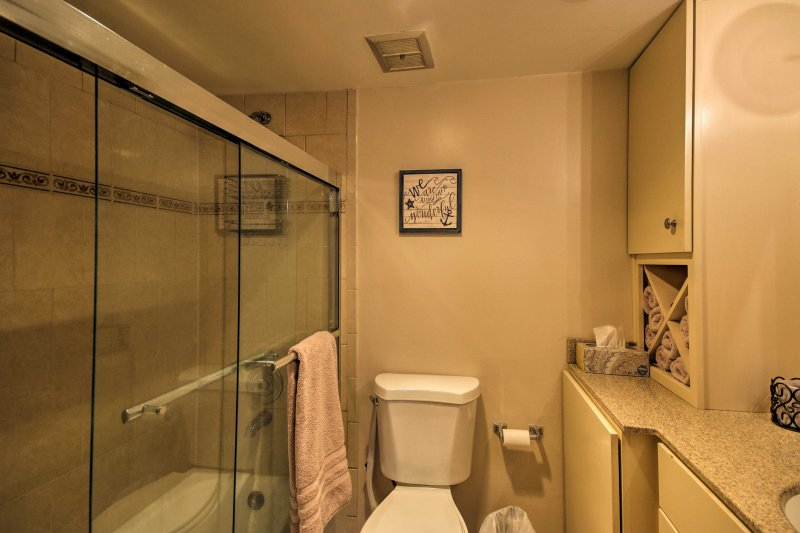 The home offers 2 full bathrooms.