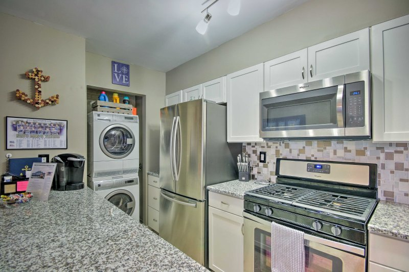 Keep all your belongings clean with the laundry machines.