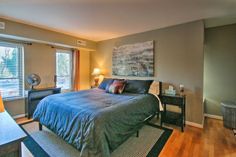 Those staying in the master bedroom will be gifted to a plush king bed.
