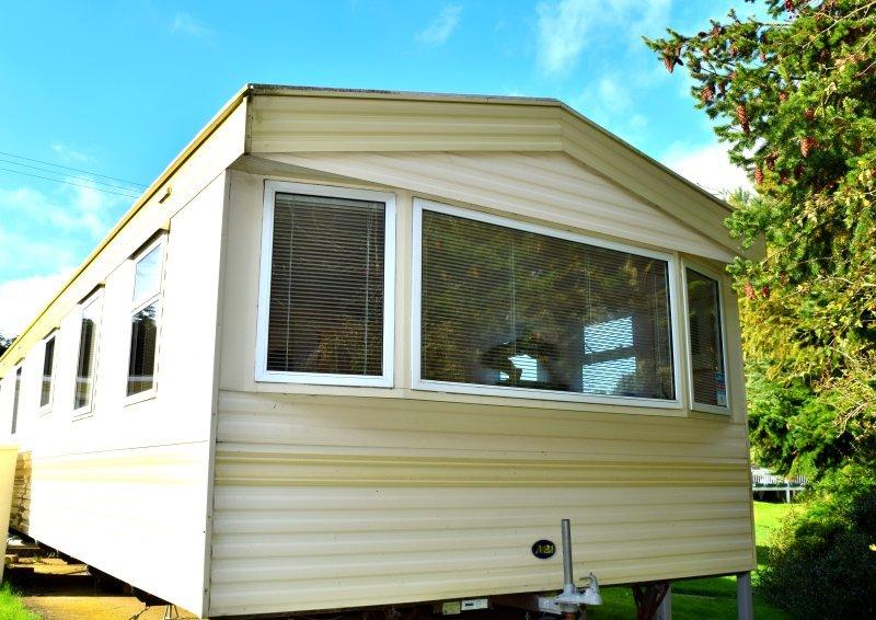 Nuestra caravana se encuentra en una zona aislada y relajado de la Baja Hyde Holiday Park, Shanklin, Isla de Wight