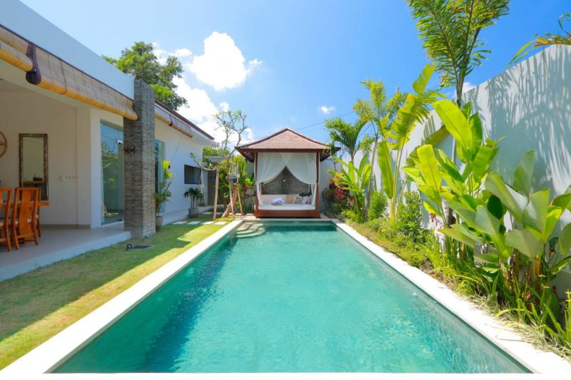 Pool from bedroom 1