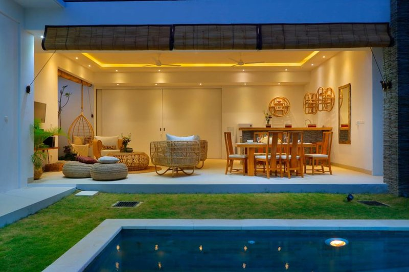 Living room from the pool