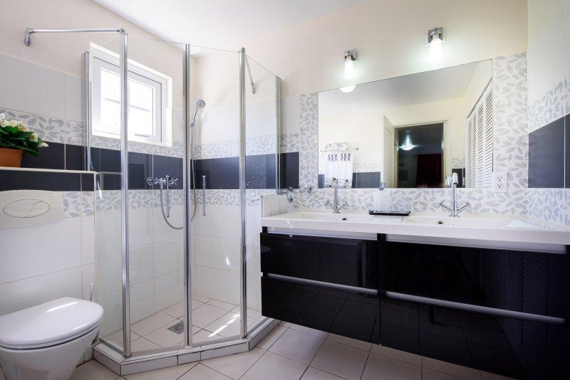 Bathroom 1 - shower, double basin