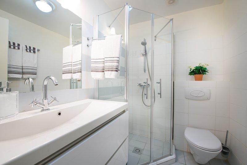 Bathroom 2 - shower and basin