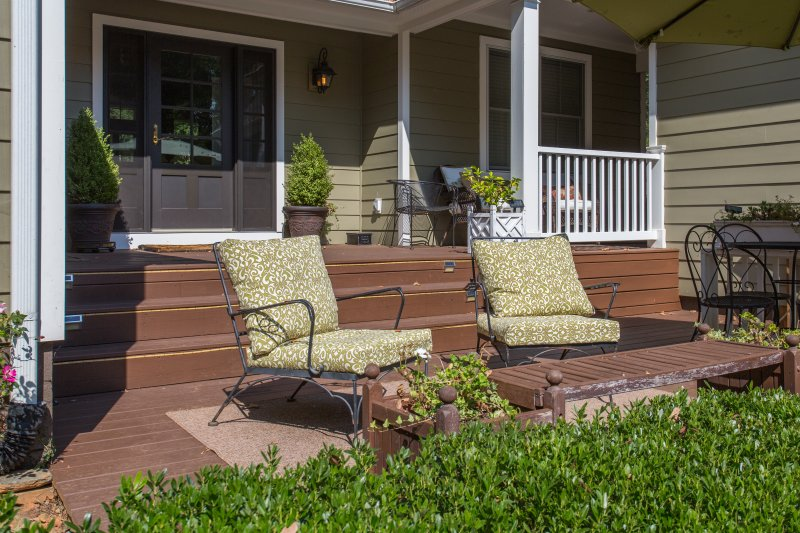 Take in the Cville views on this quaint patio
