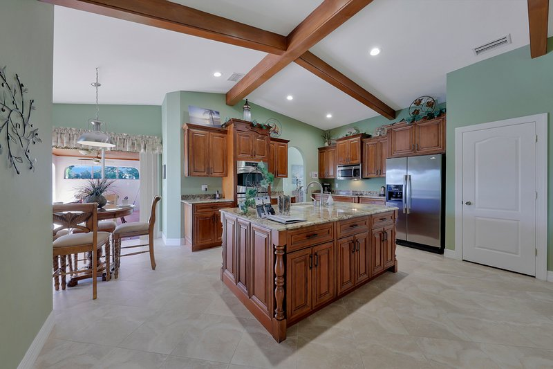 The spacious and remodeled Kitchen with island