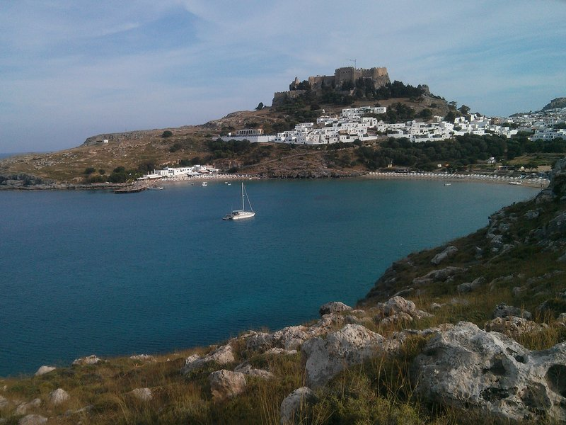Lindos from Across the Bay