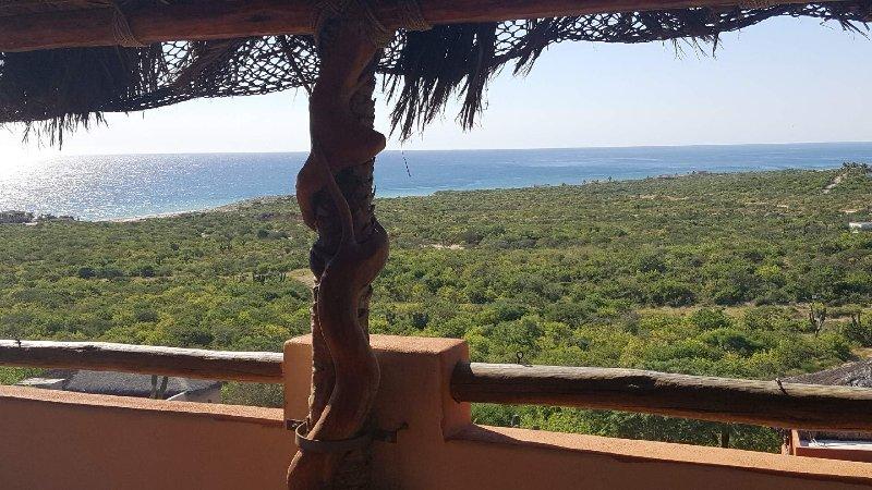 Panoramic ocean, mountain, and desert views