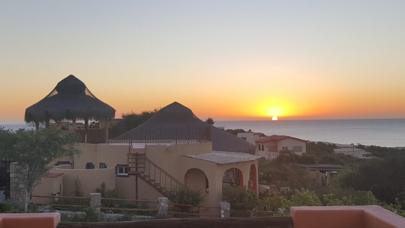 Sunrise view from lower patio