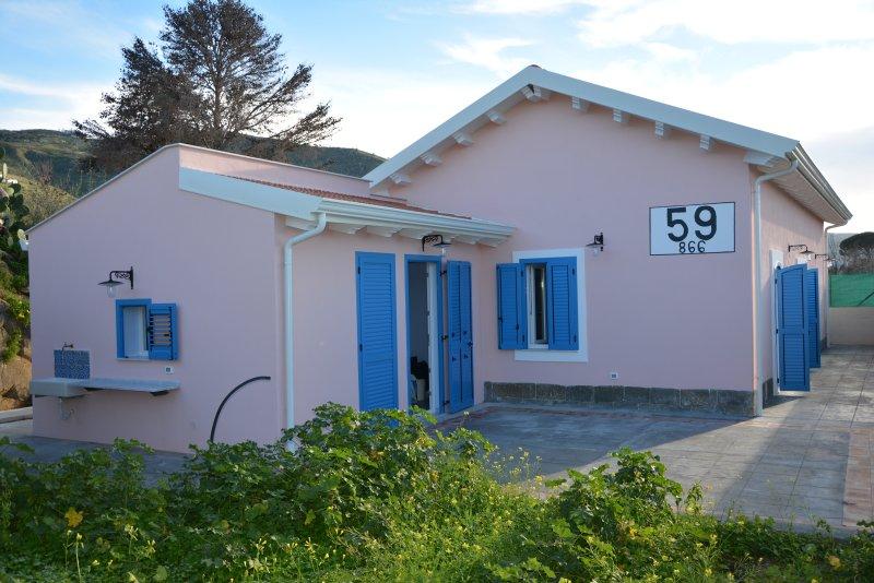 Cefalù Villa vicino al mare - Casello ferroviario 59+866 – semesterbostad i Capo