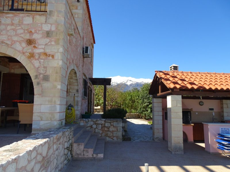 Villa Petra near Chania Has Central Heating and Private Yard