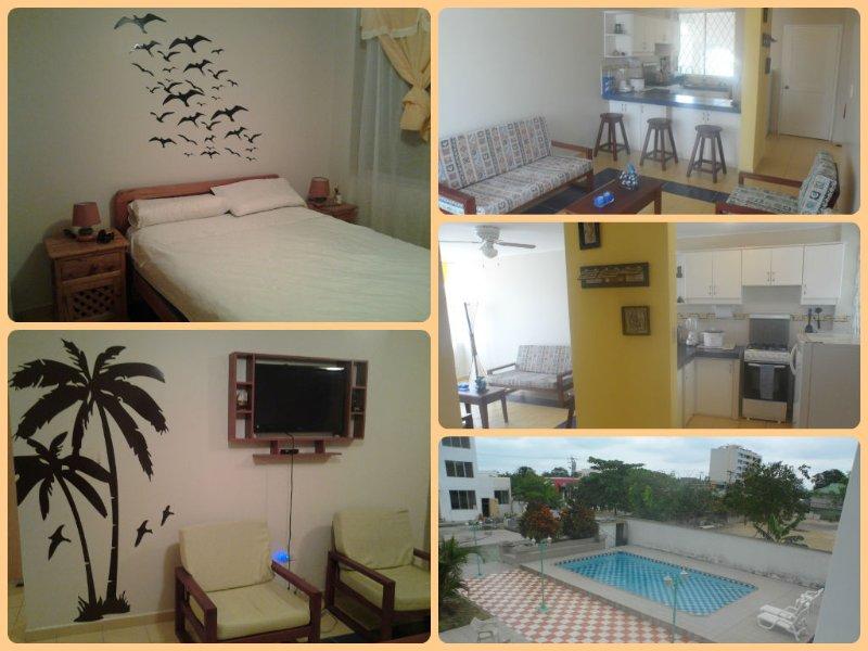 Apartamento cómodo y familiar en playas ecuatorianas, aluguéis de temporada em Província de Esmeraldas