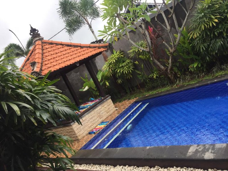 Relax by the pool in the Balinese Gazebo