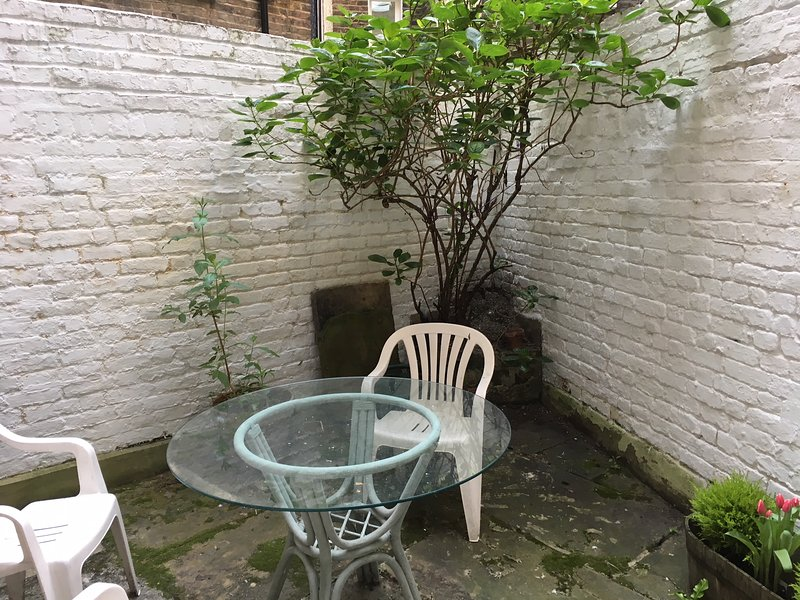 patio garden with barbecue