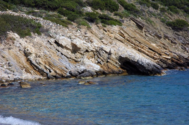 Sea and rock in Paros