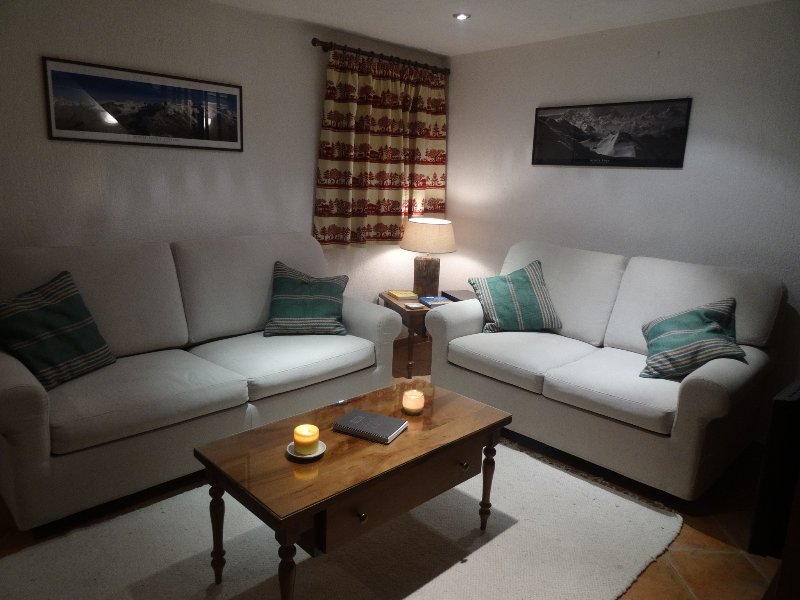 Sitting room area with pull out sofa bed