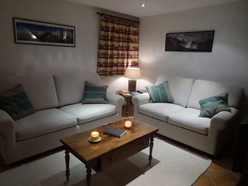 Sitting area soggiorno con divano letto estraibile