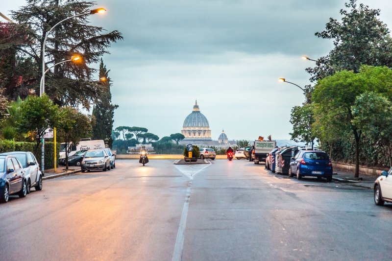 THE FANTASTIC VIEW OF ST PETER'S DOME FROM OUR STREET !