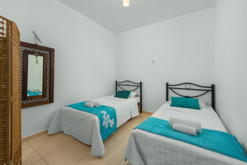 Twin bedroom, internal with a screen for privacy. Great for the little ones.