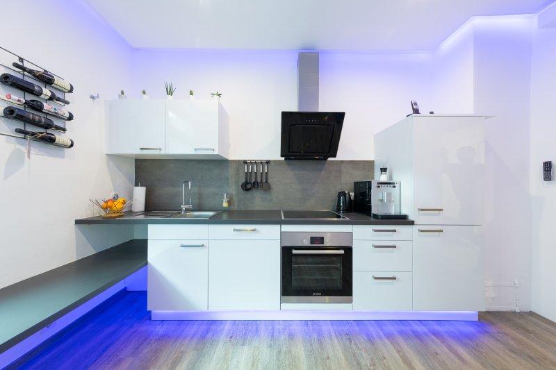 cozinha de alta qualidade, totalmente equipada