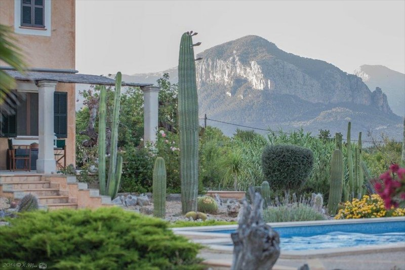 Spectacular views of the mountains from the beautiful pool area