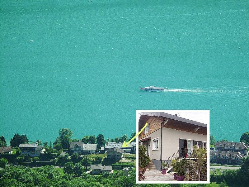 Appartement 90m² entre lac et montagnes, holiday rental in Doussard