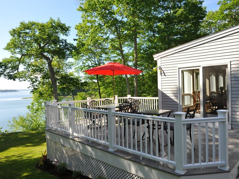 Large deck with great views of Casco Bay