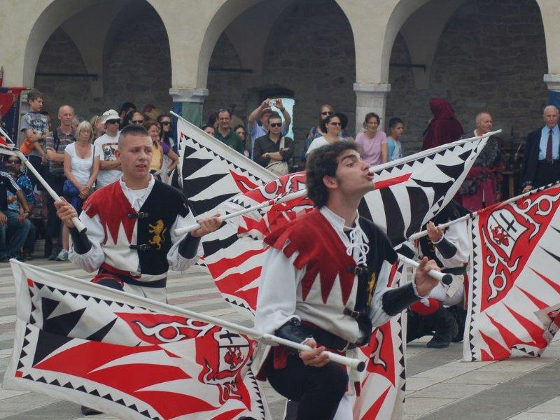 Festa locale typique en été