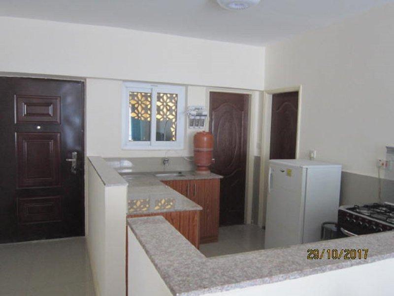 Kitchen, laundry, entrance,
